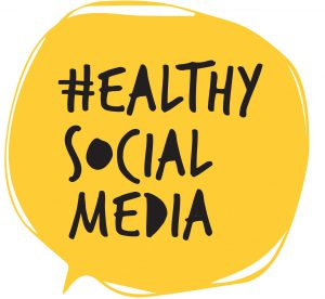 healthy social media - logo yellow