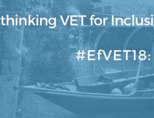 "EfVET Conference on ""Rethinking VET for an Inclusive Excellence"""