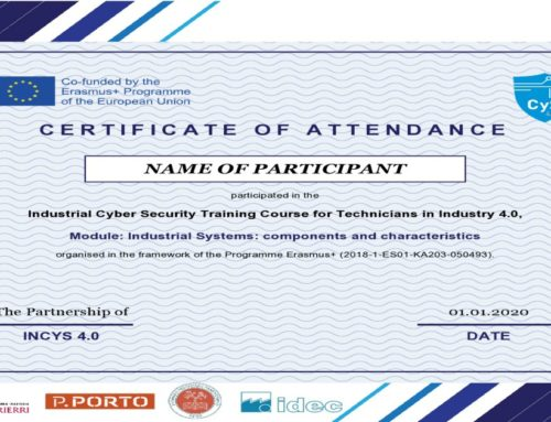 Free access to InCyS Industrial Cyber Security Training Course