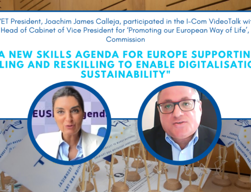 EfVET President Calleja took part in the VideoTalk held by the EC