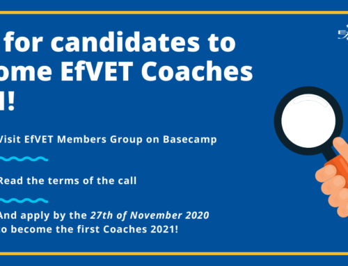 Call for candidates to become EfVET Coaches 2021!
